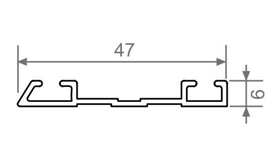Sina inferioara sistem usi glisante Galex 3000mm aluminiu