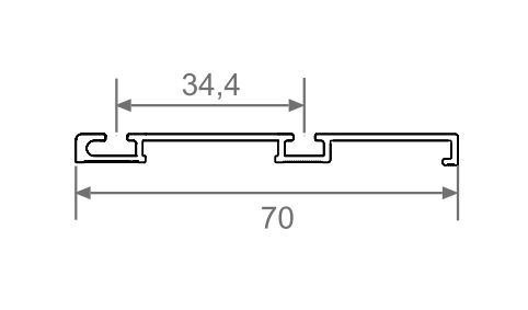 Sina inferioara wenge sistem usi glisante Galex 3000mm